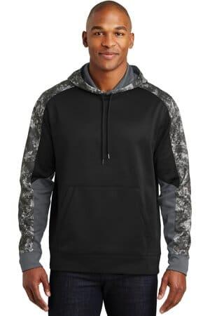 ST231 sport-tek sport-wick mineral freeze fleece colorblock hooded pullover
