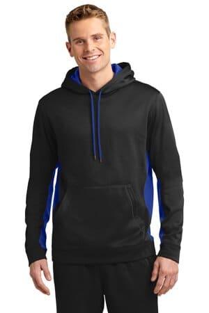 ST235 sport-tek sport-wick fleece colorblock hooded pullover