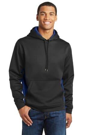 ST239 sport-tek sport-wick camohex fleece colorblock hooded pullover