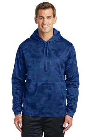 ST240 sport-tek sport-wick camohex fleece hooded pullover