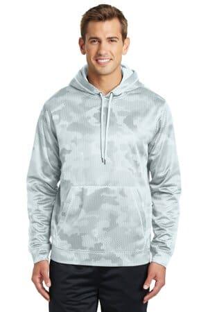 sport-tek sport-wick camohex fleece hooded pullover st240