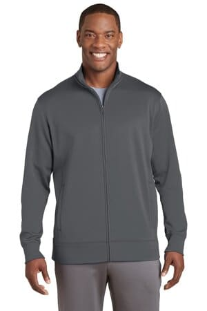 sport-tek sport-wick fleece full-zip jacket st241