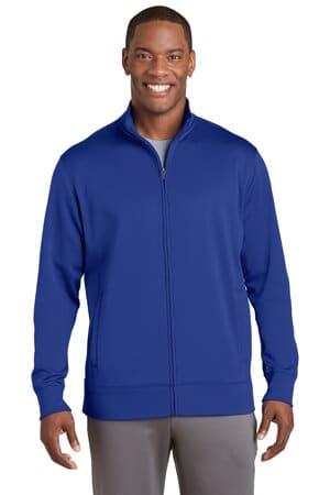 sport-tek sport-wick fleece full-zip jacket st241