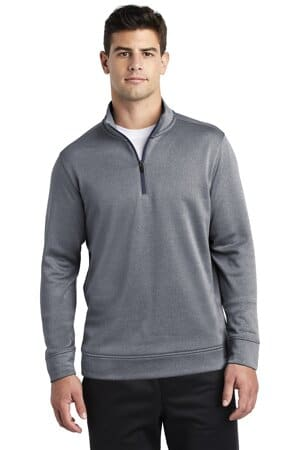 sport-tek posicharge sport-wick heather fleece 1/4-zip pullover st263