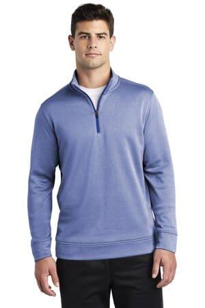 sport-tek posicharge sport-wick heather fleece 1/4-zip pullover st263