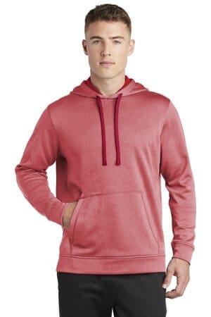 ST264 sport-tek posicharge sport-wick heather fleece hooded pullover