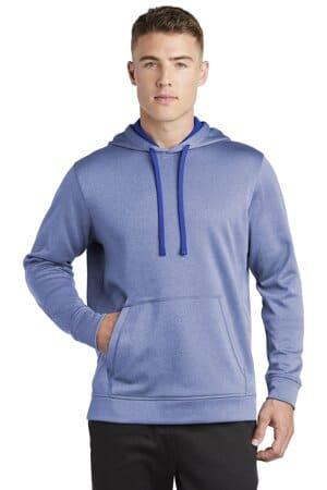 sport-tek posicharge sport-wick heather fleece hooded pullover st264