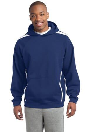 ST265 sport-tek sleeve stripe pullover hooded sweatshirt