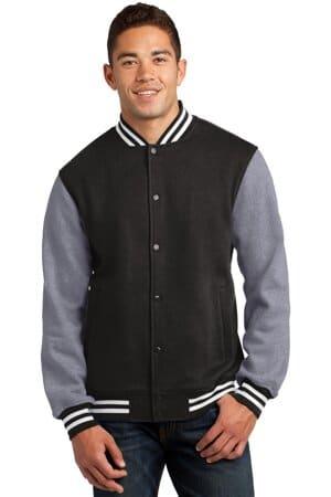 ST270 sport-tek fleece letterman jacket