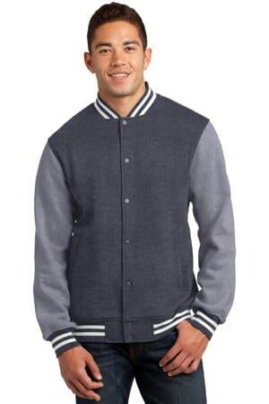 ST270 sport-tek fleece letterman jacket st270