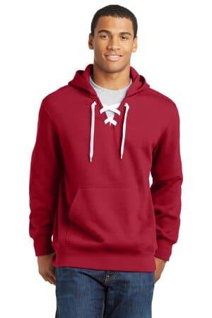 sport-tek lace up pullover hooded sweatshirt st271