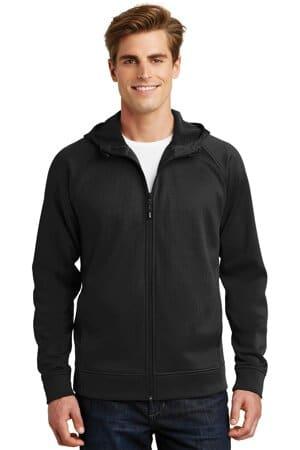 sport-tek rival tech fleece full-zip hooded jacket st295
