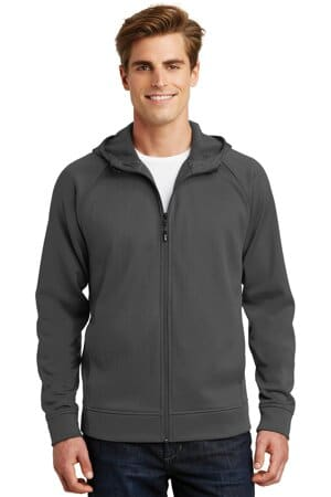 sport-tek rival tech fleece full-zip hooded jacket st295