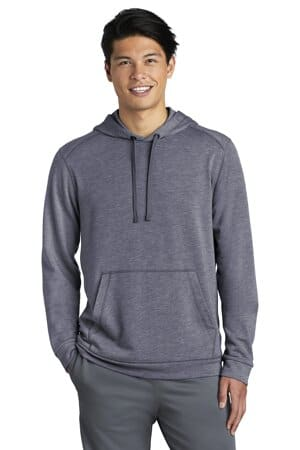 ST296 sport-tek posicharge tri-blend wicking fleece hooded pullover