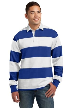 ST301 sport-tek classic long sleeve rugby polo