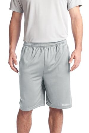 ST312 sport-tek posicharge tough mesh pocket short