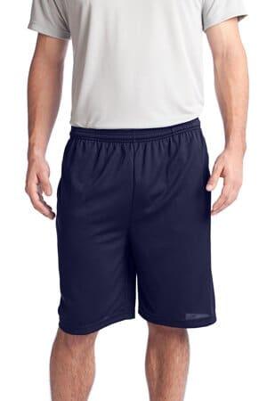 sport-tek posicharge tough mesh pocket short st312