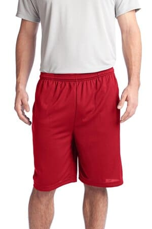 sport-tek posicharge tough mesh pocket short st312