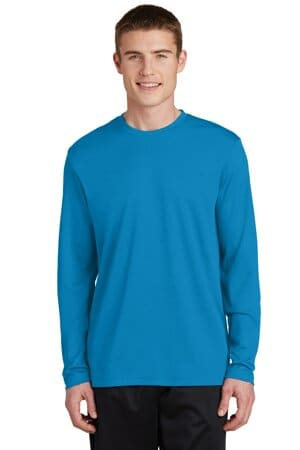 sport-tek posicharge racermesh long sleeve tee st340ls