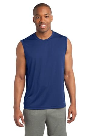 sport-tek sleeveless posicharge competitor tee st352