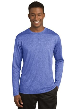 sport-tek long sleeve heather contender tee st360ls