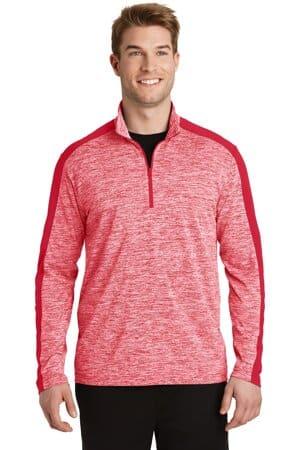 ST397 sport-tek posicharge electric heather colorblock 1/4-zip pullover