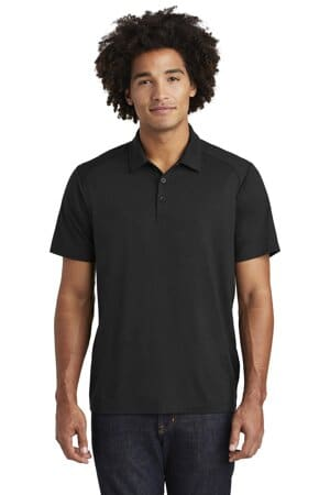 sport-tek posicharge tri-blend wicking polo st405