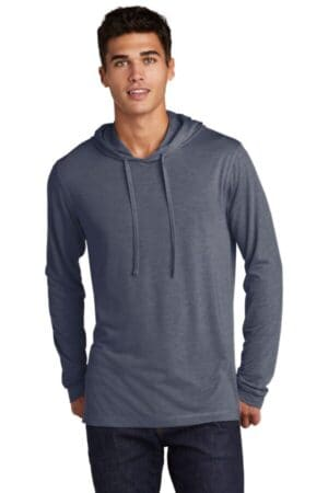 sport-tek posicharge tri-blend wicking long sleeve hoodie st406