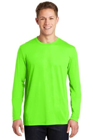 sport-tek long sleeve posicharge competitor cotton touch tee st450ls