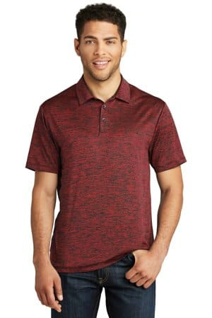 ST590 sport-tek posicharge electric heather polo st590