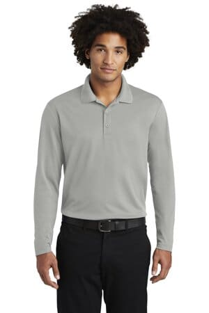sport-tek posicharge racermesh long sleeve polo st640ls