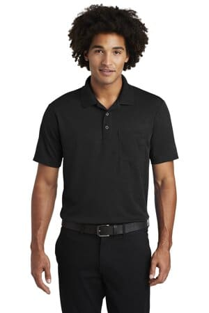 sport-tek posicharge racermesh pocket polo st640p