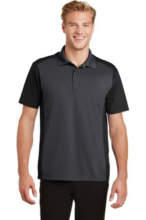 sport-tek colorblock micropique sport-wick polo st652