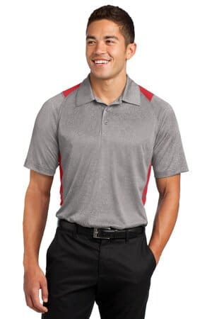 sport-tek heather colorblock contender polo st665