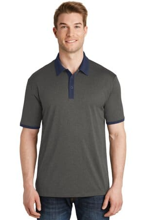 ST667 sport-tek heather contender contrast polo st667