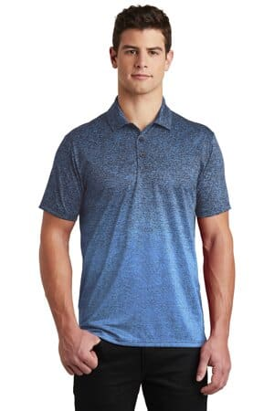 ST671 sport-tek ombre heather polo st671