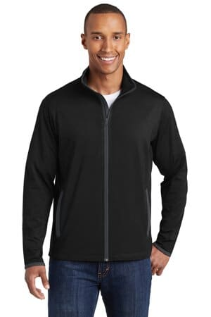 sport-tek sport-wick stretch contrast full-zip jacket st853