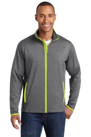 sport-tek sport-wick stretch contrast full-zip jacket st853