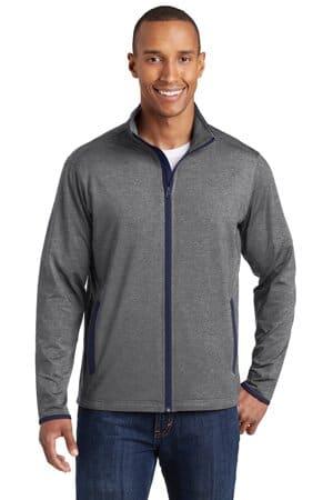 ST853 sport-tek sport-wick stretch contrast full-zip jacket
