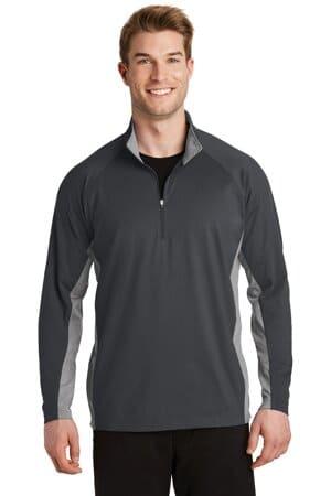 sport-tek sport-wick stretch contrast 1/2-zip pullover st854