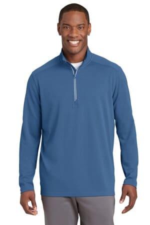 sport-tek sport-wick textured 1/4-zip pullover st860