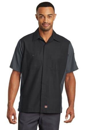 SY20 red kap short sleeve ripstop crew shirt sy20
