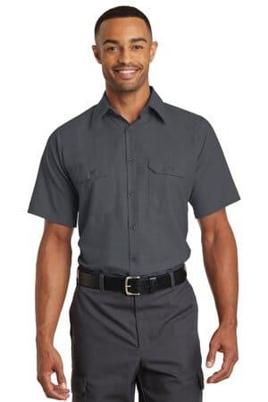 SY60 red kap short sleeve solid ripstop shirt sy60