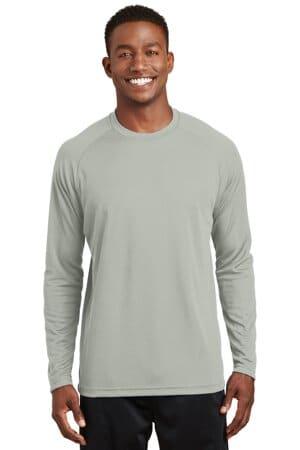 sport-tek dry zone long sleeve raglan t-shirt t473ls
