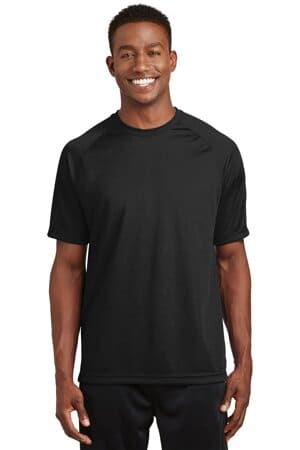 sport-tek dry zone short sleeve raglan t-shirt t473