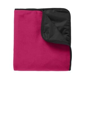 port authority fleece & poly travel blanket tb850
