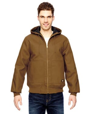 TJ718 Dickies men's 10 oz hooded duck jacket