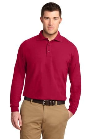 port authority tall silk touch long sleeve polo tlk500ls