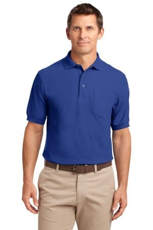 port authority tall silk touch polo with pocket tlk500p
