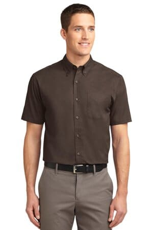 port authority tall short sleeve easy care shirt tls508